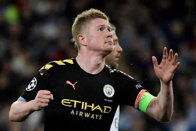 Kevin De Bruyne's future could be placed in doubt if Man City's appeal fails (AFP Photo/JAVIER SORIANO)