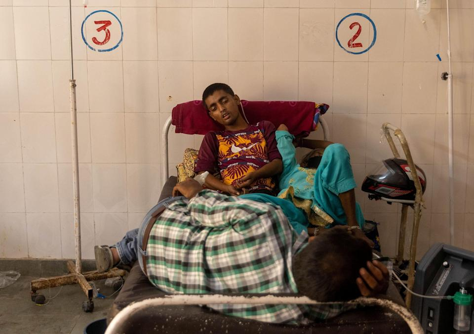 Another patient is treated in the Bijnor district hospitalREUTERS