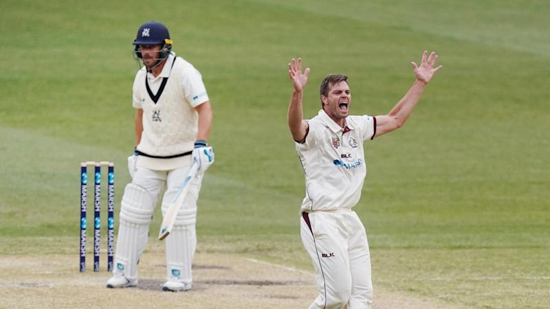 Victoria have slumped to their third Sheffield Shield defeat of the season, losing to Queensland