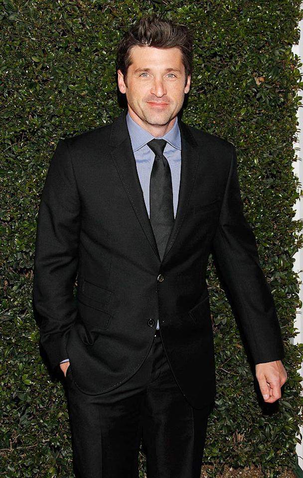 """""""Grey's Anatomy"""" star and passionate race car driver Patrick Dempsey was on hand to lend his support -- and to check out the beautiful new Ferrari -- at the event. Todd Williamson/<a href=""""http://www.wireimage.com"""" target=""""new"""">WireImage.com</a> - March 18, 2010"""