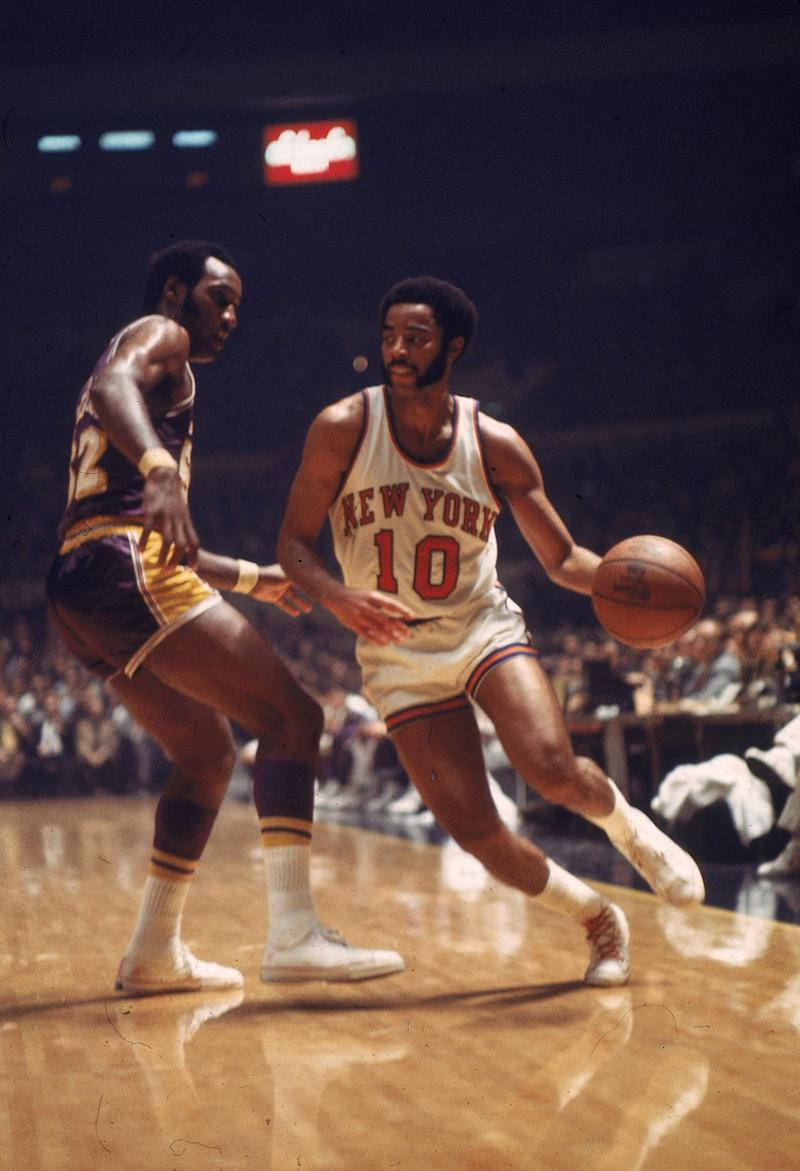 6a07af9151c Walt Frazier drives to the basket at Madison Square Garden in 1973. (AP)