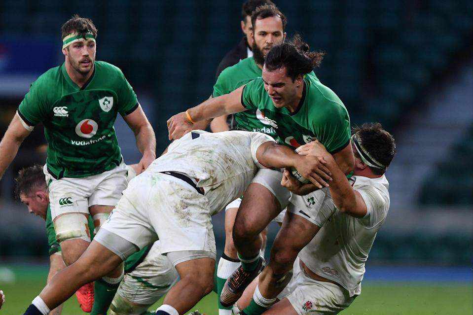 <p>England produced a truly formidable defensive display against Ireland at Twickenham</p> (Getty Images)