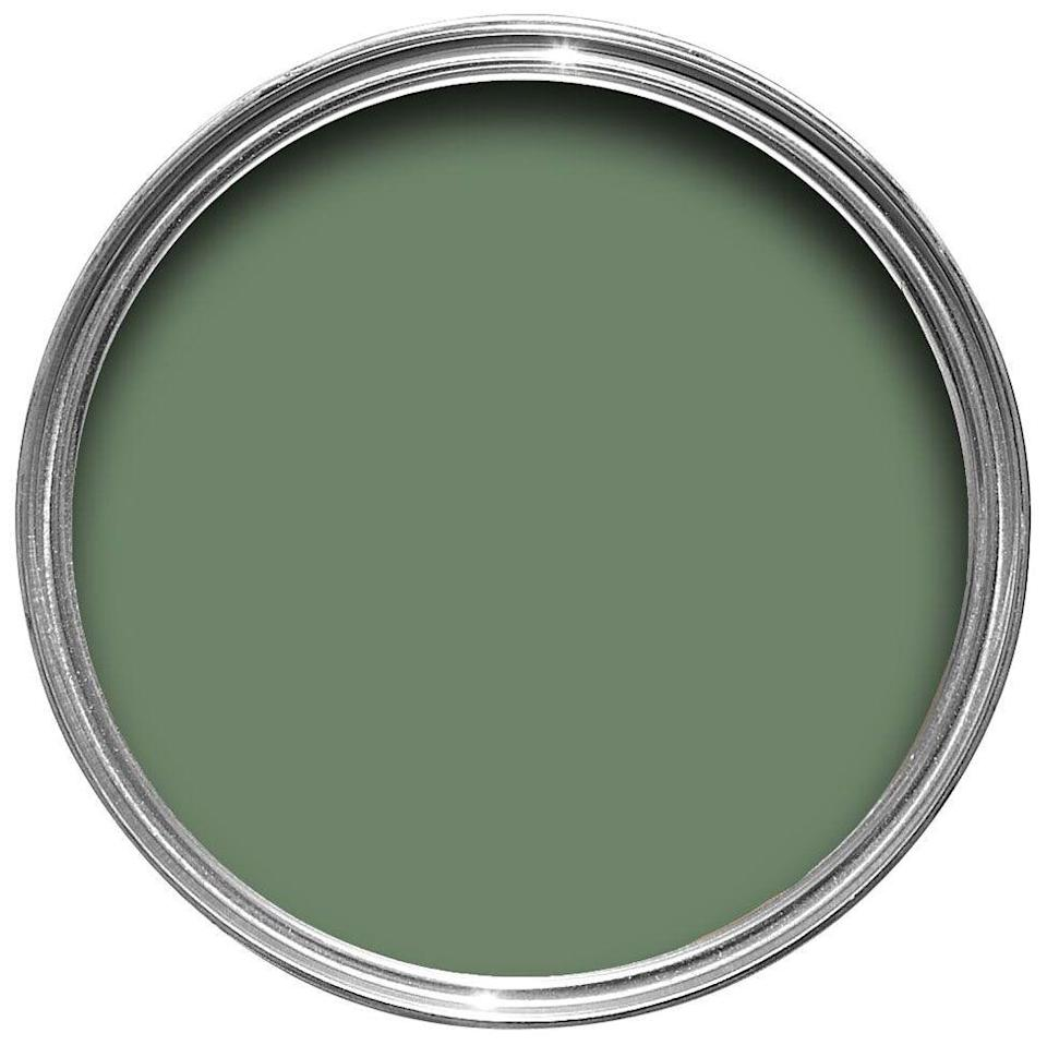 """<p>""""It is a sage green that really has the most beautiful nuances depending on the lighting and time of day. It can be a fresh, truer sage or a darker, more enveloping olive tone when the light is less bright and direct. It pairs beautifully with any shade of green it is put with. A true classic but fresh for kitchen cabinets with brass hardware and Calcutta marble. I have it on the built-in shelves in my living room!"""" - Jared Hughes of <a href=""""https://www.jaredhughesdesign.com/"""" rel=""""nofollow noopener"""" target=""""_blank"""" data-ylk=""""slk:Jared Hughes Design"""" class=""""link rapid-noclick-resp"""">Jared Hughes Design</a> </p>"""
