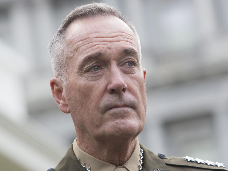 General Joseph Dunford warned that North Korea was the most dangerous threat the US faced: Getty Images