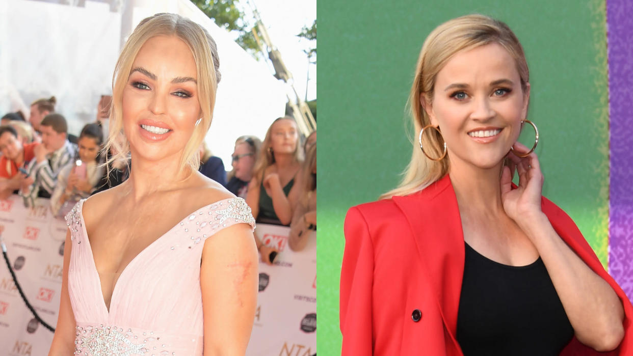 Katie Piper wants Reese Witherspoon to play her in the movie about her life. (David M. Benett/Jon Kopaloff/Getty Images)