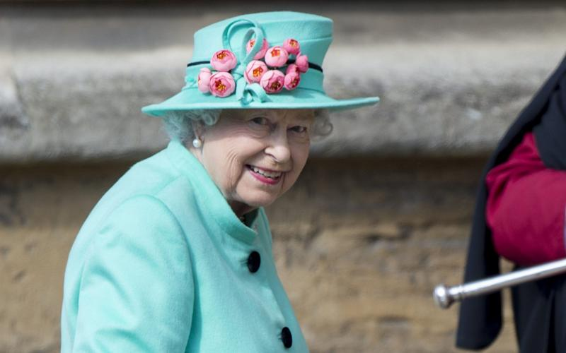 The Queen attends Windsor Castle Easter service - UK Press