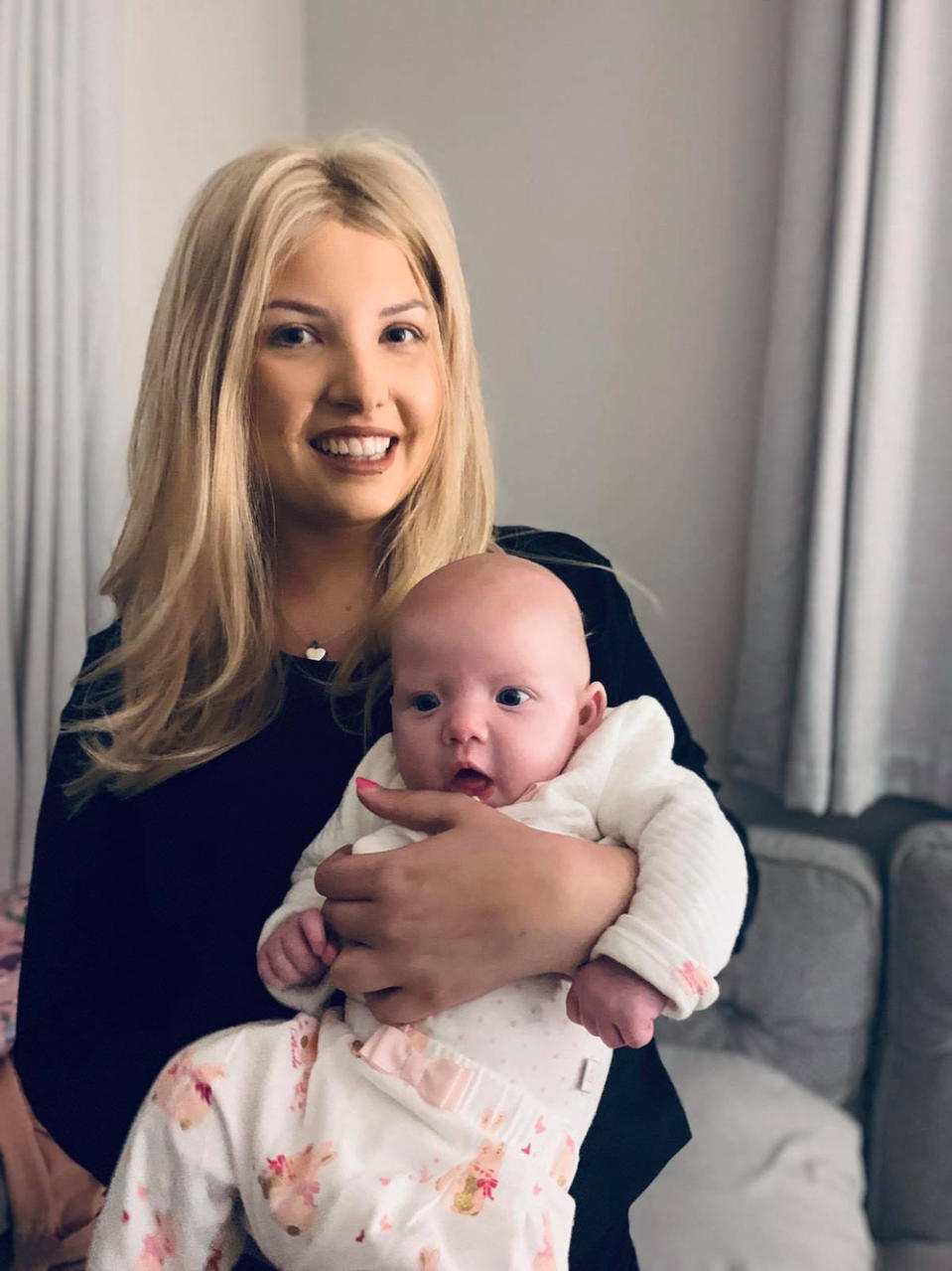 Poppy Stewart-Brown with her daughter Arabella in summer 2019, whilst she was undergoing cancer treatment (PA Real Life/Collect)