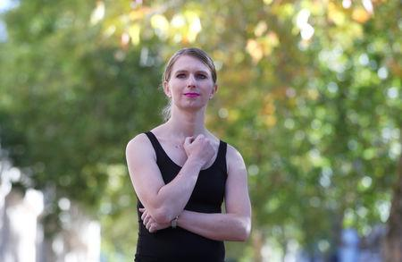 FILE PHOTO: Chelsea Manning poses for photographs at the Institute of Contemporary Art in London, Britain, October 1, 2018. REUTERS/Hannah McKay/File Photo