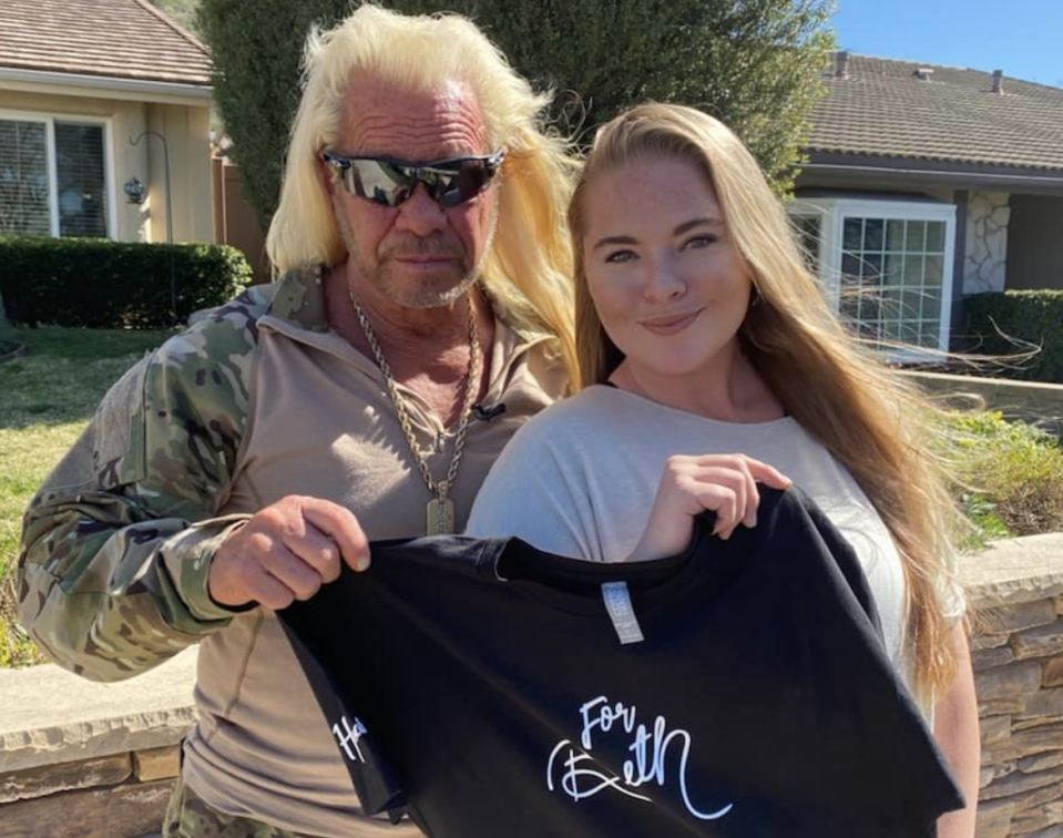 "Duane ""Dog"" Chapman and Cecily Chapman teamed up to sell a line of clothing in Beth's memory. (Photo: Instagram)"