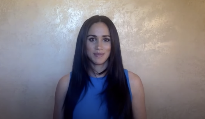 Meghan Markle recorded a video message for the virtual 2020 Girl Up Leadership Summit. (Photo: YouTube)