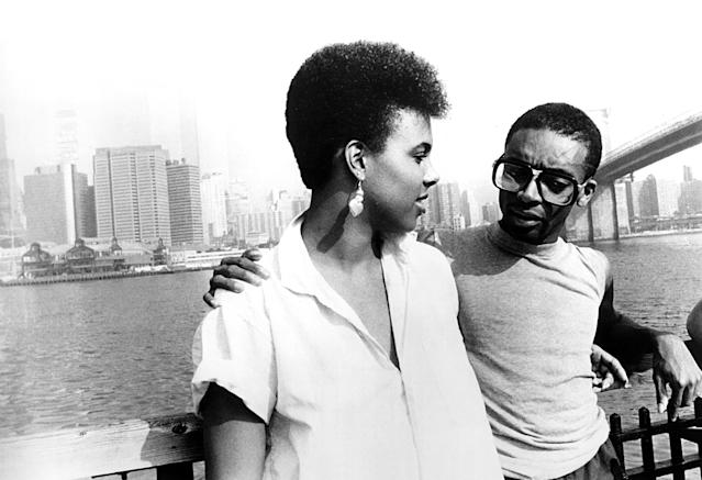 Tracy Camilla Johns as Nola Darling and Spike Lee as Mars Blackmon. (Photo: Everett Collection)