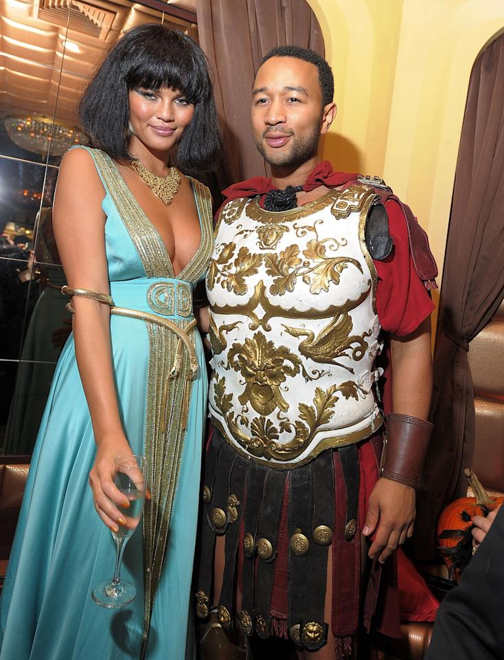 """<p>Another couple we love to idolize? <a rel=""""nofollow"""" href=""""http://www.glamour.com/about/john-legend?mbid=synd_yahoostyle"""">John Legend</a> and <a rel=""""nofollow"""" href=""""http://www.glamour.com/about/chrissy-teigen?mbid=synd_yahoostyle"""">Chrissy Teigen</a>. They dressed up as yet <em>another</em> famous couple, Antony and Cleopatra.</p>"""