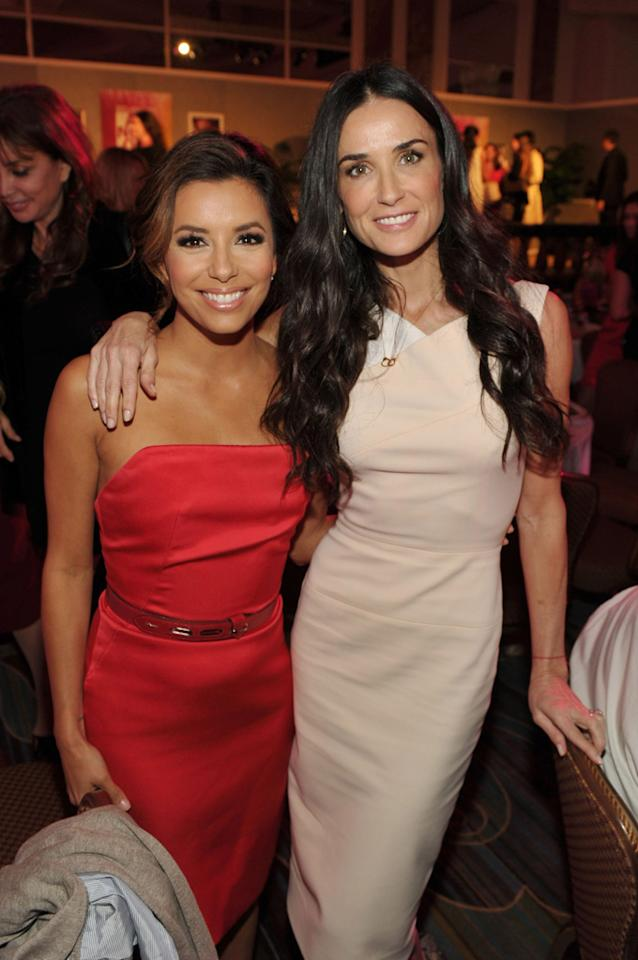 """""""Desperate Housewives"""" hottie Eva Longoria and Demi Moore hugged it out at the third annual <i>Variety</i>'s Power of Women luncheon, which was held at the Four Seasons Hotel in Beverly Hills on Friday. John Shearer/<a href=""""http://www.wireimage.com"""" target=""""new"""">WireImage.com</a> - September 23, 2011"""