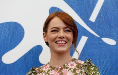 "Actress Emma Stone while attending the photocall for the movie ""La La Land""  at the 73rd Venice Film Festival in Venice, Italy August 31, 2016. REUTERS/Alessandro Bianchi/File Photo"