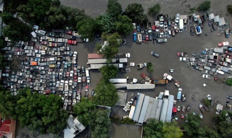 The flooding affected about 39,000 residents whose homes were inundated (AFP/Fabian REYNA)