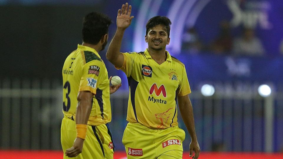 """<div class=""""paragraphs""""><p>Shardul Thakur picked 2 wickets off consecutive deliveries against RCB. </p></div>"""