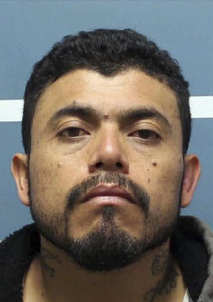 This undated photo provided by the Tulare County, Calif., Sheriff's Office shows Gustavo Garcia. Central California authorities say Garcia, who went on a robbery, shooting and carjacking rampage, died Monday, Dec. 17, 2018, in a high-speed crash during which he intentionally tried to smash into other cars. (Tulare County Sheriff's Office via AP)