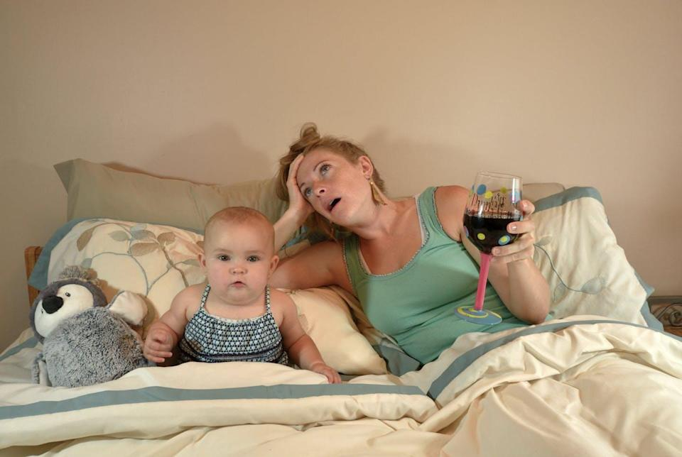 """<span class=""""caption"""">A wine mom is a mother who drinks wine to take the edge off daily tasks associated with motherhood.</span> <span class=""""attribution""""><span class=""""source"""">(Shutterstock)</span></span>"""
