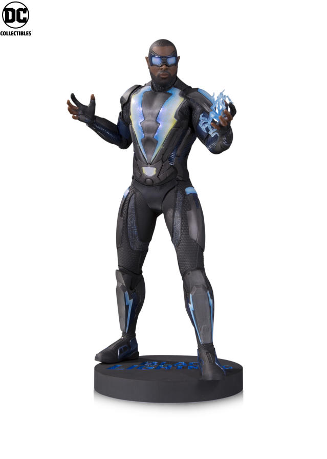 "<p>Black Panther isn't the only African-American superhero flexing his might with fans. The titular hero of <a href=""https://www.yahoo.com/entertainment/tagged/black-lightning"" data-ylk=""slk:the CW's latest DC Comics-inspired series"" class=""link rapid-noclick-resp"">the CW's latest DC Comics-inspired series</a> parlays his monster ratings into this sleek statue. (Photo: DC Collectibles) </p>"