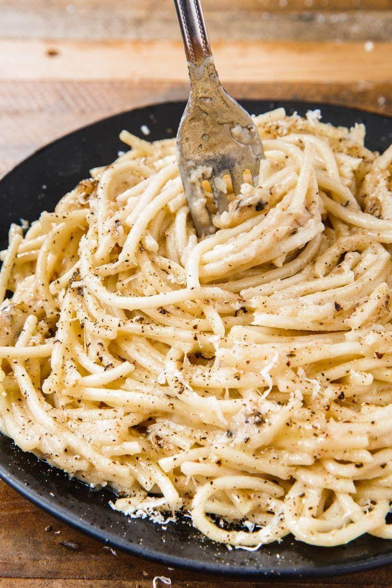 """<p>Cacio e pepe literally translates to """"cheese and pepper,"""" and while those are the prominent flavours here, this dish is SO much more. It's transformative. And what makes it so perfect? Its simplicity.</p><p>Get the <a href=""""https://www.delish.com/uk/cooking/recipes/a30252529/cacio-e-pepe-recipe/"""" rel=""""nofollow noopener"""" target=""""_blank"""" data-ylk=""""slk:Cacio e Pepe"""" class=""""link rapid-noclick-resp"""">Cacio e Pepe</a> recipe.</p>"""