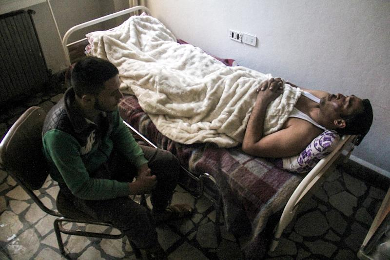 """Russia slammed as """"unacceptable"""" a draft UN Security Council resolution put forward by Britain, France and the United States on an alleged chemical attack in Syria (AFP Photo/Omar haj kadour)"""