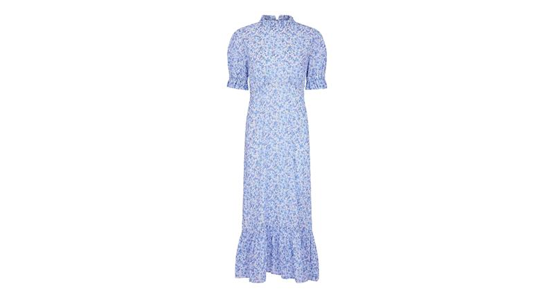 Solene Dress Hippie Flower Blue