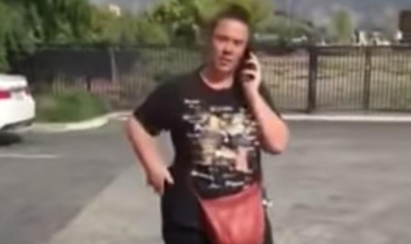 "A woman social media users are calling ""Walmart Wendy"" called the police on a city worker after he asked her to move her car in a California Walmart parking lot. (Photo: YouTube)"