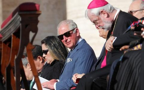 The prince of Wales attends a Mass for the canonisation of 19th-century British cardinal John Henry Newman