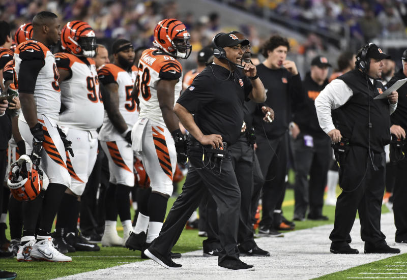 Cincinnati Bengals head coach Marvin Lewis won't return in 2018. (AP)