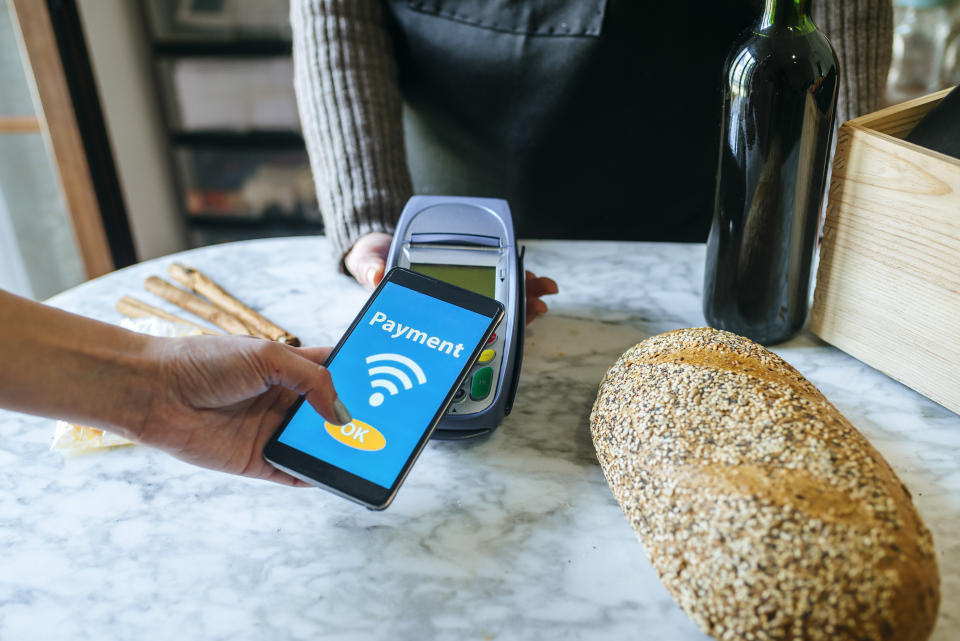 A digital wallet is necessary for contactless payments. (Photo: Getty)