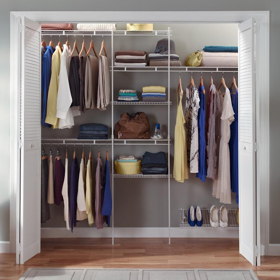 """<p>If you're looking to revamp your whole space, get this <a href=""""https://www.popsugar.com/buy/Closetmaid-Closet-Organizer-Kit-487372?p_name=Closetmaid%20Closet%20Organizer%20Kit&retailer=walmart.com&pid=487372&price=84&evar1=casa%3Aus&evar9=46576677&evar98=https%3A%2F%2Fwww.popsugar.com%2Fhome%2Fphoto-gallery%2F46576677%2Fimage%2F46577021%2FClosetmaid-Closet-Organizer-Kit&list1=shopping%2Cwalmart%2Corganization%2Ccloset%20organization%2Chome%20organization%2Chome%20shopping&prop13=mobile&pdata=1"""" rel=""""nofollow"""" data-shoppable-link=""""1"""" target=""""_blank"""" class=""""ga-track"""" data-ga-category=""""Related"""" data-ga-label=""""https://www.walmart.com/ip/Closetmaid-Closet-Organizer-Kit-with-Shoe-Shelf-5-to-8/27396093"""" data-ga-action=""""In-Line Links"""">Closetmaid Closet Organizer Kit </a> ($84).</p>"""