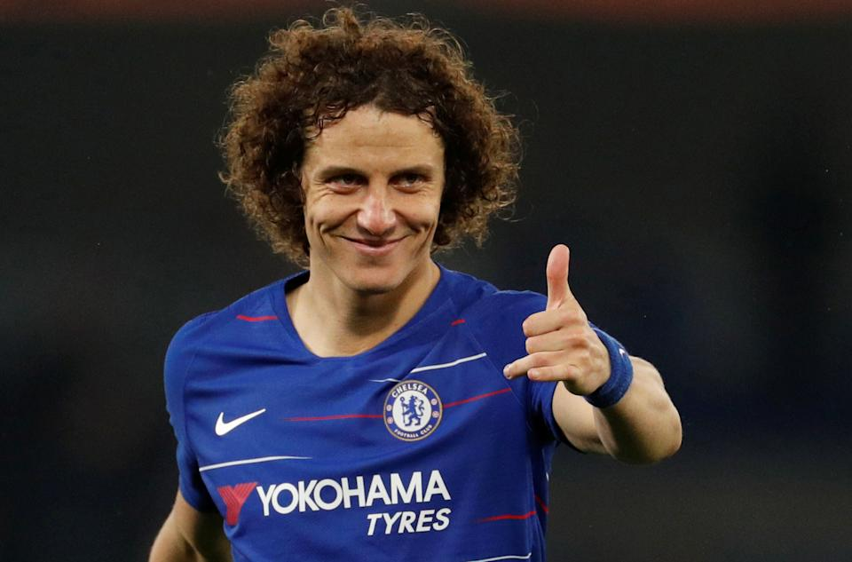 Soccer Football - Europa League Semi Final Second Leg - Chelsea v Eintracht Frankfurt - Stamford Bridge, London, Britain - May 9, 2019  Chelsea's David Luiz celebrates after the match                Action Images via Reuters/John Sibley
