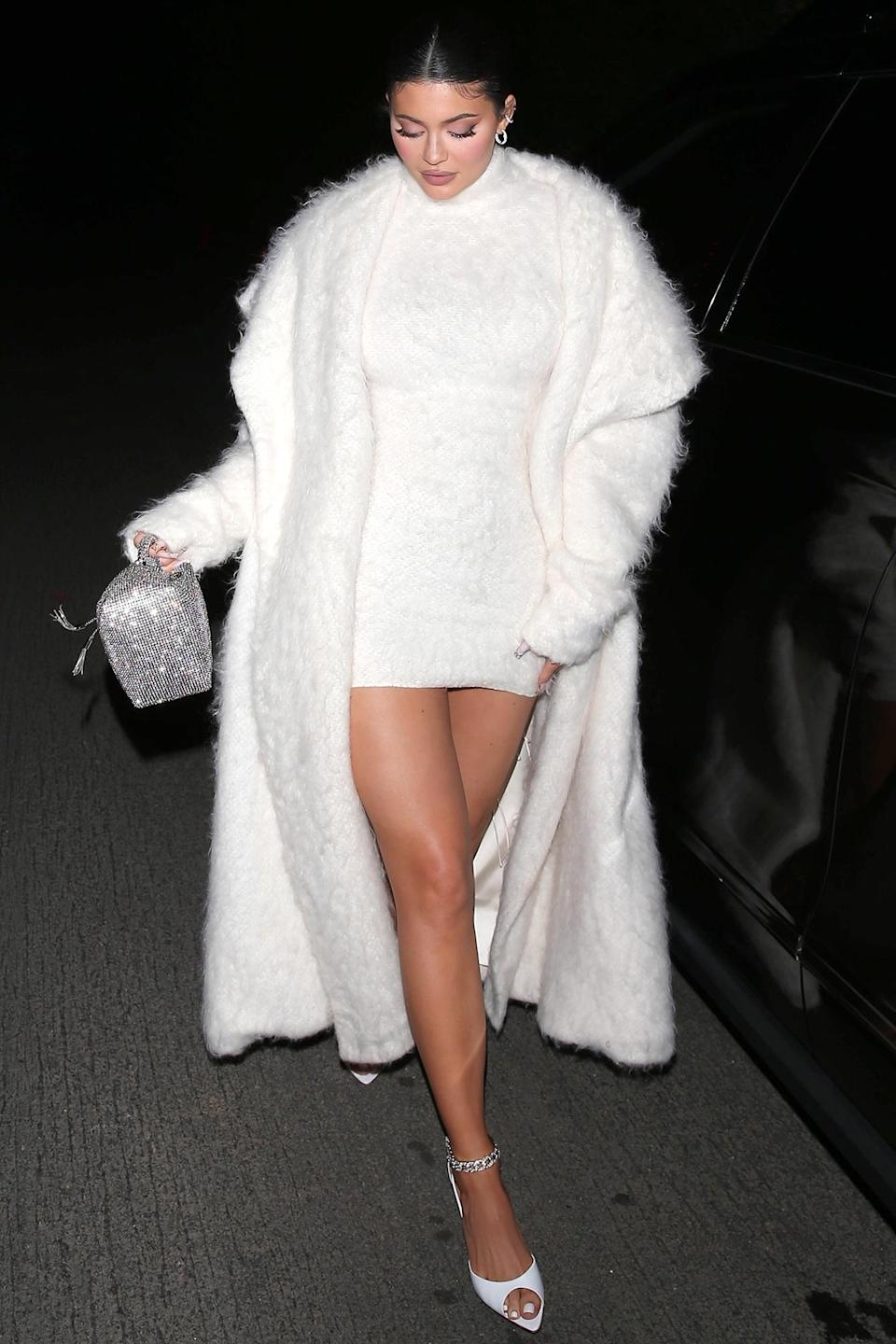 <p>Kylie Jenner was seen out in Hollywood for dinner at The Nice Guy.</p>