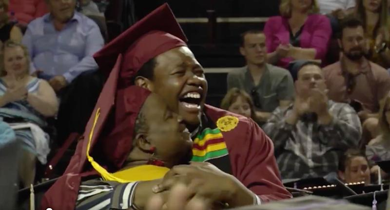bba590e49ae Mother Sharonda Wilson skipped her own college graduation ceremony to  attend that of her son Stephan