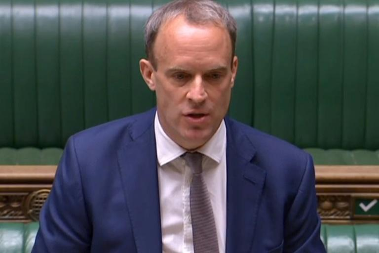 Britain's Foreign Secretary Dominic Raab said he had reached out to Australia, New Zealand, the United States and Canada about contingency plans if the law sparks a deluge of Hong Kongers looking to leave (AFP Photo/-)
