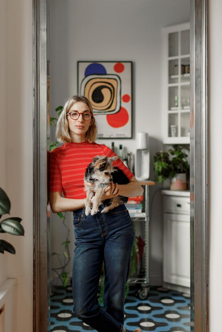 """<div class=""""caption""""> Molly and Henry at home in Brooklyn. </div>"""