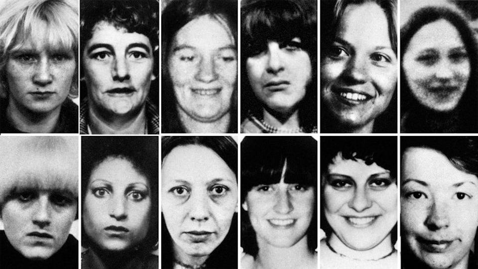 Twelve of the 13 victims of Peter Sutcliffe (PA) (PA Media)