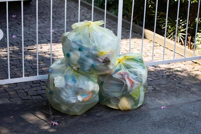 Waste in Lavagna, Italy, on 7 August 2018. After the refuse collection hasn't come for two weeks people started to collect the waste outside of the houses. The waste company said they are out of staff.
