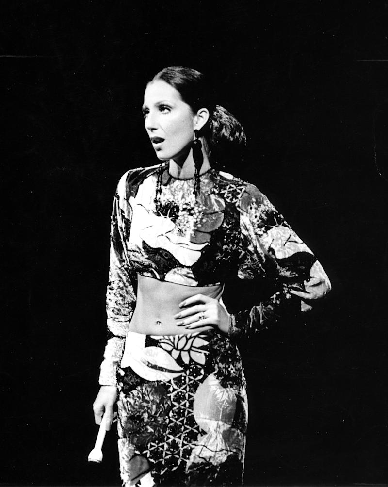 AUGUST 1972: Entertainer Cher performs in August 1972. (Photo by Michael Ochs Archives/Getty Images)