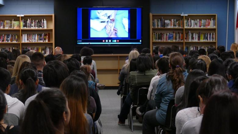 'It's cooler watching it live': Students take live streamed surgery in stride