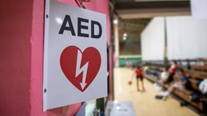 AED stands for Automated External Defibrillator . This is a portable device and is used in cardiac arrest.