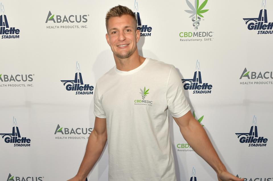 The former New England Patriots tight end shares his favorite CBDMedic products. (Photo: Getty Images)