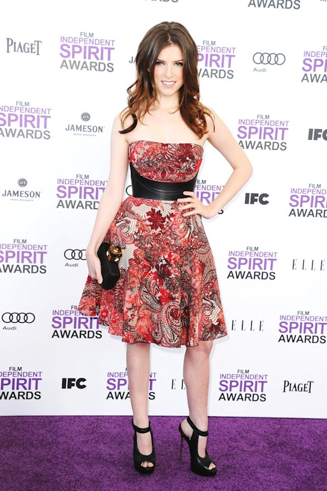 "Anna Kendrick -- who shared the screen with George Clooney in 2009's ""Up in the Air"" -- delivered some drama in a sexy, leather-enhanced Alexander McQueen ensemble."