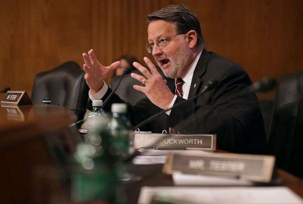 PHOTO: Senate Aviation and Space Subcommittee member Sen. Gary Peters questions witnesses during a hearing on Capitol Hill, May 14, 2019, in Washington, D.C. (Chip Somodevilla/Getty Images, FILE)