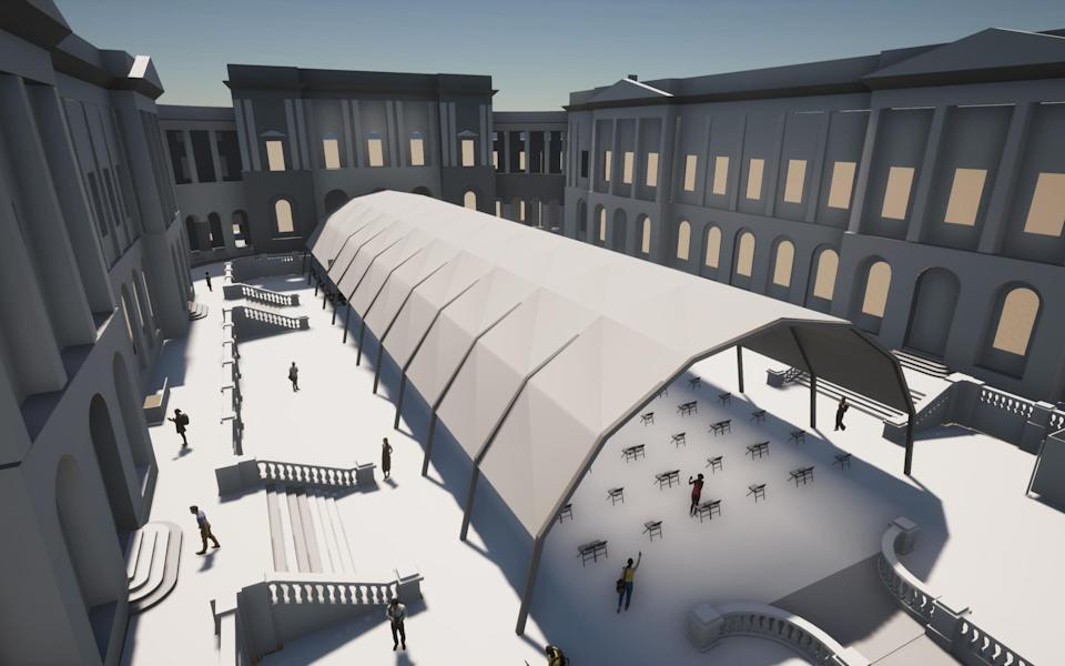 Artist's impression of an outdoor performance venue for the EIF