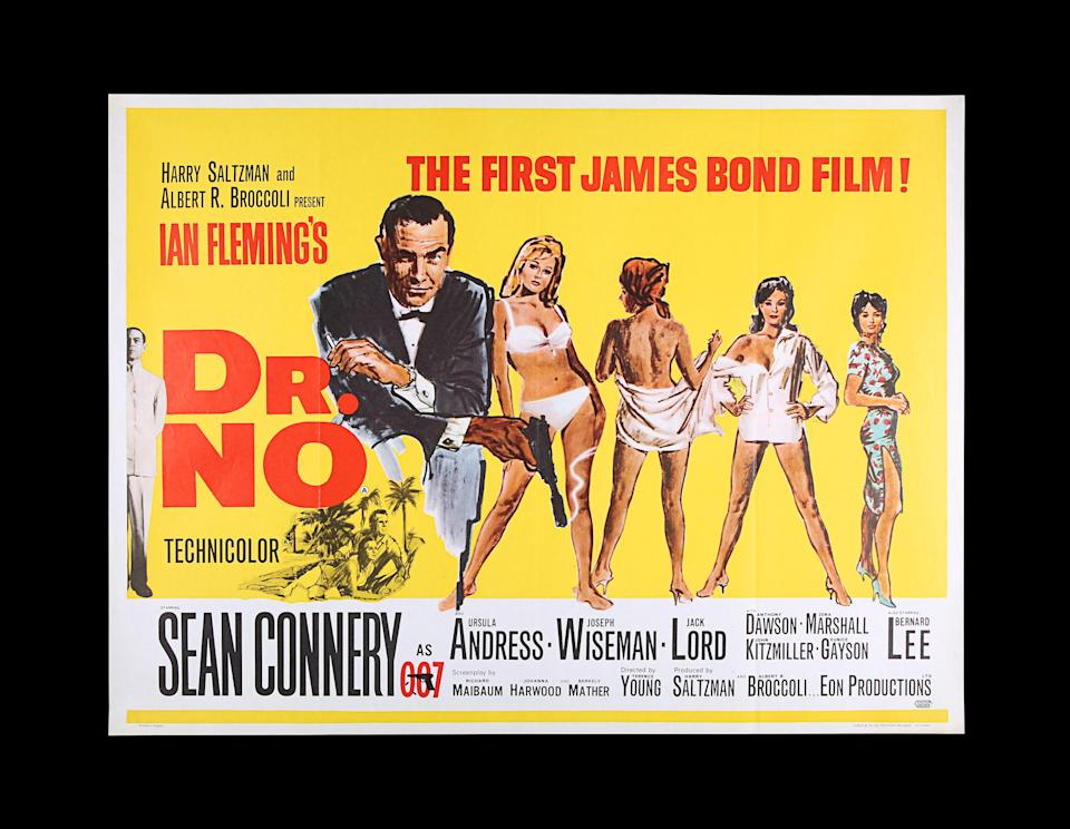 James Bond posters fetch thousands as they go under the hammer