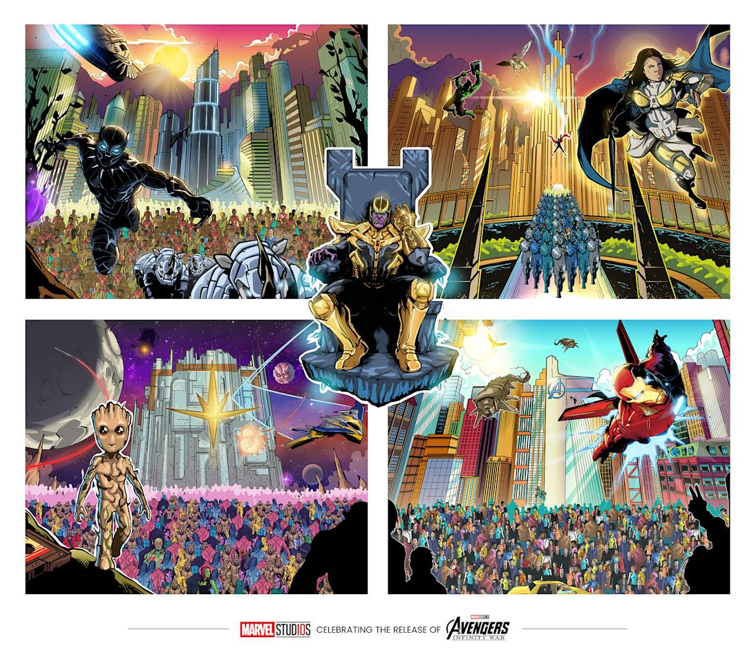 <p>The stunning image was created by the Disney Marvel team with comic illustrator Amrit Birdi. </p>