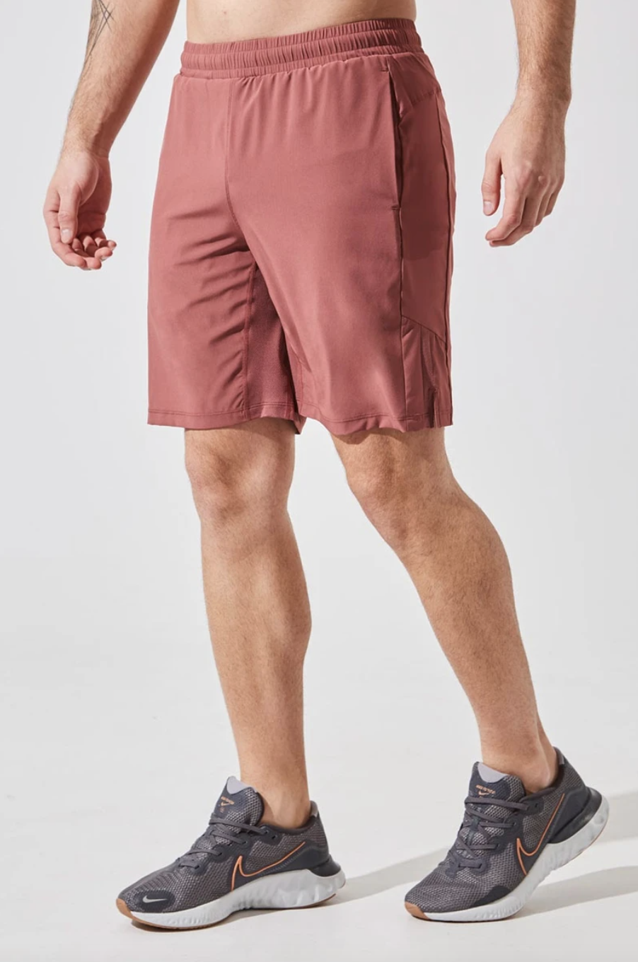 """Crux 9"""" Recycled Polyester Short with Liner in Salmon (Photo via MPG)"""