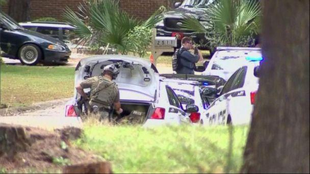PHOTO: A massive manhunt is underway in Georgia, on Oct. 20, 2018, for the suspects involved with the shooting and killing of Officer Antwan Toney. (WSB-TV)