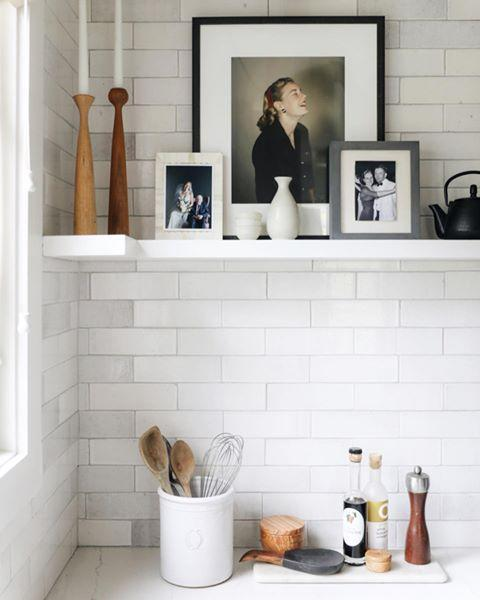 "<p>Most people relegate decorative shelving to a home office or the living room—but they look beautiful in other spaces too. A high shelf in the kitchen can be a great spot to display artwork or more ornate serving ware or dining accessories. </p><p><a href=""https://www.instagram.com/p/B-sPqXmHV7E/"" rel=""nofollow noopener"" target=""_blank"" data-ylk=""slk:See the original post on Instagram"" class=""link rapid-noclick-resp"">See the original post on Instagram</a></p>"